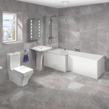 1700 Montana Left Hand L-Shaped Shower Bath Suite