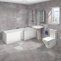 1700 Montana Right Hand L-Shaped Shower Bath Suite