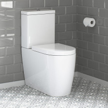 Newport Rimless Close Coupled Toilet with Soft Close Seat