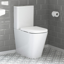 Boston Rimless Close Coupled Toilet with Soft Close Seat