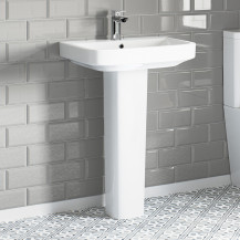 Toronto 550mm 1 Tap Hole Basin and Pedestal