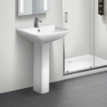 Austin 500mm 1 Tap Hole Basin and Pedestal