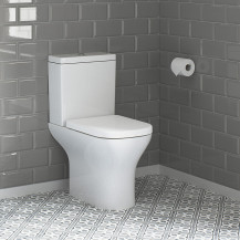 Portland Short Projection Close Coupled Toilet with Soft Close Seat