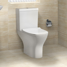 Portland Short Projection Close Coupled Toilet with Slim Soft Close Seat