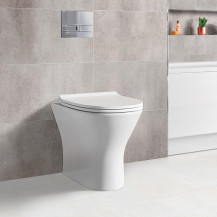 Portland Back to Wall Toilet with Slim Soft Close Seat