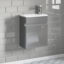 Portland 410 Wall Mounted Crisp Mist Gloss Vanity Unit