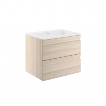 Boston 600 Sandy Oak Wall Mounted Vanity Unit