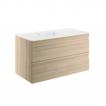 Boston 900 Sandy Oak Wall Mounted Vanity Unit