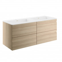 Boston 1200 Sandy Oak Wall Mounted Vanity Unit