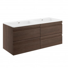 Boston 1200 Forest Oak Wall Mounted Vanity Unit