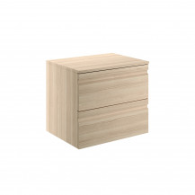 Boston 600 Wall Mounted Sandy Oak Countertop Vanity Unit
