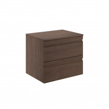 Boston 600 Wall Mounted Forest Oak Countertop Vanity Unit