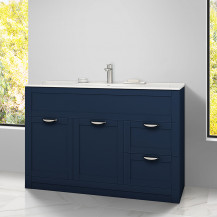Nottingham Indigo Blue 1000 Vanity Unit