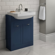 Nottingham Indigo Blue Semi Inset 1 Tap Hole Vanity Unit