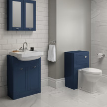 Nottingham Indigo Blue Semi Inset Combination Unit with Park Royal™ Back to Wall Toilet