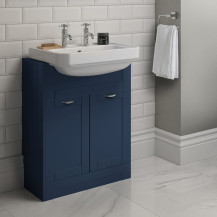 Nottingham Indigo Blue Semi Inset 2 Tap Hole Vanity Unit
