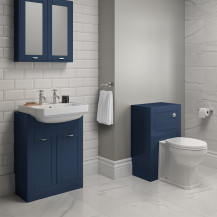 Nottingham Indigo Blue Semi Inset 2 Tap Hole Combination Unit with Park Royal™ Back to Wall Toilet