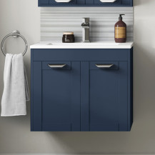 Nottingham Indigo Blue 600 Two Door Wall Hung Vanity Unit