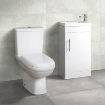Aspen™ 41cm Vanity Unit with Micro Close Coupled Toilet and Seat