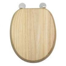 Flexi Fix Davos Blonded Effect Solid Pine Toilet Seat