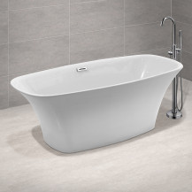 Toronto 1500 x 720 Tapered Matt Finish Freestanding Bath
