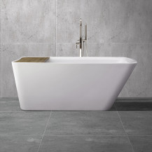 Manhattan 1500 x 780 Freestanding Bath with Bath Bridge