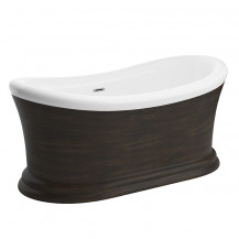 Capella Brushed Bronze 1700 x 740 Double Ended Slipper Bath
