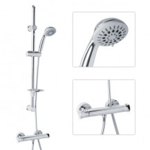 Eco Slide Shower Rail Kit with Ecobar Valve