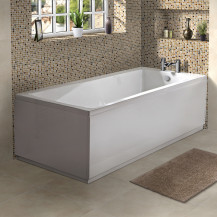Rutland 1700 x 700 Single Ended Square Bath with Tabor™ Waterfall Bath Filler