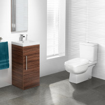 TD Walnut 400 Vanity Unit with Carona Toilet & Seat