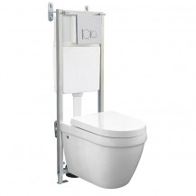 Aurora Wall Mounted Toilet with Fixing Frame