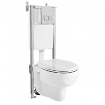 Venti Wall Mounted Toilet with Fixing Frame