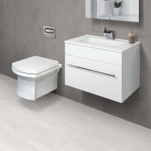 Aspen™ 60cm Wall Mounted White Vanity Unit with Isobelle Wall Hung Toilet