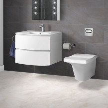 Iseo Wall Hung Toilet with Voss 620 Two Drawer Wall Hung Unit