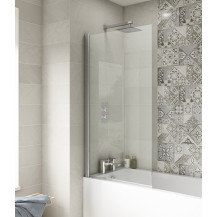 Straight Top Fixed 1435 x 790 Bath Screen 6mm