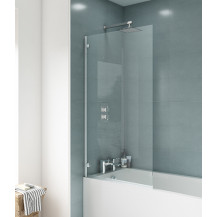 Straight Top Hinged 1435 x 780 Bath Screen 5mm