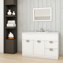 Nottingham White 1000 Vanity Unit with Como tap