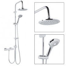 Dualex Riser Slide Shower Rail Kit With Square Valve