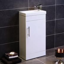 Aspen™ Compact 50 White Floor Mounted Vanity Unit