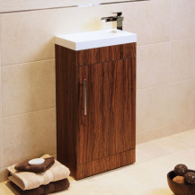 Aspen™ Compact 50 Walnut Floor Mounted Vanity Basin Unit