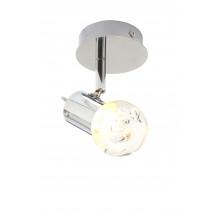 Bubble LED Ceiling Flush plate Single Spot Light Chrome