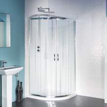 Aqualine™ 4mm Thick Glass Sliding Door Quadrant Shower Enclosure