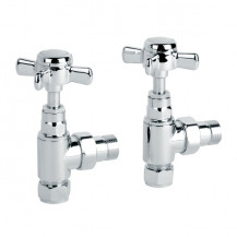 Deluxe Traditional Angled Chrome Radiator Valves