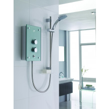 Mira Galena 9.8 kW Metallic Silver Electric Shower
