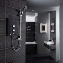 Mira Galena 9.8 kW Slate with Citrus Fittings Electric Shower