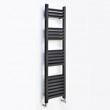Venetian 1200 x 500 Matt Black Aluminium Heated Towel Rail