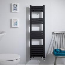 Venetian 1000 x 300 Matt Black Aluminium Heated Towel Rail