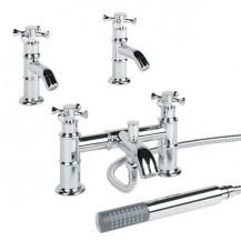 Glenham Basin Tap and Bath Shower Mixer Pack