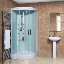 Aqualine™ Hydromassage Shower Cabin with 6 Body Jets with Square Handset