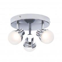 Milan Deco 3 light LED Plate Chrome
